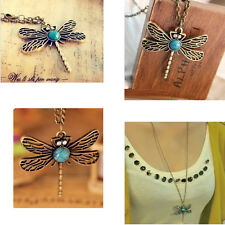 Dragonfly Hollow Retro Metal Sweater Chain Necklace Women Jewelry Long Chain