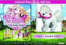 BARBIE AND HER SISTERS IN A PONY TALE New DVD Limited Time Plush Pony Gift Set