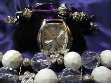 Narmi Woman's Watch with 2 Bands **Acrylic Beads** ME 024