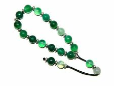 0685 - Prayer Beads Loose String Greek Komboloi 10mm Green Agate Gemstone