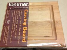 """Tommer Maple Carving Cutting Board New 10 x 12 x 1"""""""