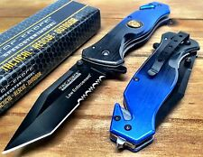 Tac-Force Spring Assisted POLICE FORCE  Pocket Knife with Glass Breaker
