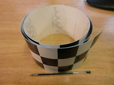 Black + white Checker Tape - 4ft x 4in - 3 squares / Chequer stripe