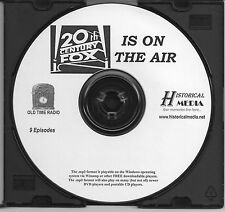 20TH CENTURY FOX IS ON THE AIR - 9 Shows - Old Time Radio In MP3 Format OTR 1 CD