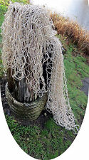 Fishing NET 6 X 12 ft Authentic Vntg BEIGE Fish Netting Decor Tiki Tropical Pool