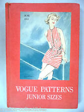 Vogue Patterns CATALOG - 1952 ~~ Store Counter Pattern Book