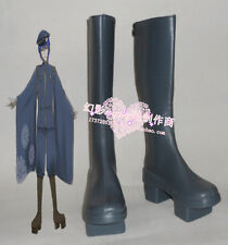 Vocaloid Kaito Cosplay Halloween Long Black Shoes Boots H016