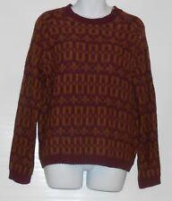 Preswick & Moore Ladies Long Sleeve Pullover Sweater Mink & Plum L MSRP $80.00