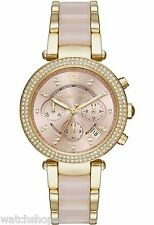 NEW MICHAEL KORS MK6326 LADIES YELLOW GOLD PARKER WATCH - 2 YEAR WARRANTY