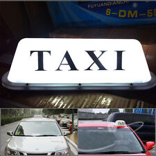 "14"" 10 LED Taxi Cab Sign Roof Top Topper Car Super Bright Light Lamp 12V White"