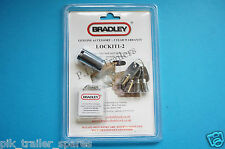 FREE P&P* Genuine Bradley Hitch Lock & 4 Keys for Doublelock Trailer Coupling
