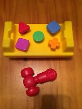 Fisher Price Tap and Turn Work Bench Red Hammer Sturdy Baby Toddler Toy Set