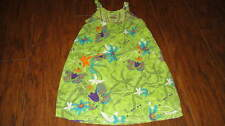 NWT NEW JEAN BOURGET 6A 114 5 GREEN FLORAL DRESS BEACH KID FILLE