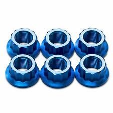6x Blue Titanium Rear Sprocket Nuts Ducati Panigale 1098, 1198, 1199, 1299 S R