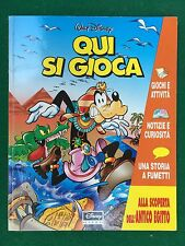 Walt DISNEY - QUI SI GIOCA (1995) Fumetto a colori Giochi Rubriche