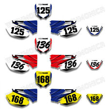 Custom Number Plate Background Decal For Yamaha WR250F WR450F WRF250 450 2005 06