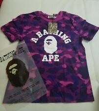 Mens A Bathing Ape Purple Camo Shirt Sz L
