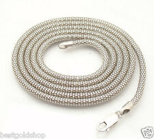 "36"" 3.5mm Anti-Tarnish Coreana Popcorn Chain Necklace Sterling Silver QVC"