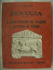 LIBRO ANTICO-PERUGIA-IL MUSEO FUNERARIO DEL PALAZZONE-ANNO 1921