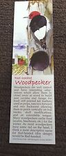 "Book Marker, Woodpecker, Wildlife Collectibles, 7"" x 2"", Beautiful Colors"