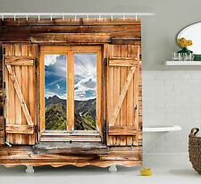 Shower Curtain Country View From Mountain House Themed 70 Inches Long