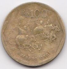 Indonesia Bulls Racing 100 Rupiah Coin 1998 - MUST L@@K!
