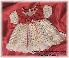 "CROCHET PATTERN for ""MORGAN JO"" Baby Dress by REBECCA LEIGH----6/9 & 12months"