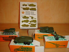 military Diecast set of 4 USSR Model tank metal toy soviet car Russian truck
