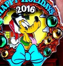Disney Pins 2016 Happy Holidays Hilton Head Island Resort Christmas Wreath Pin