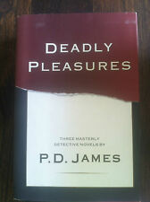 DEADLY PLEASURES three masterly detective novels by P.D. James HARDCOVER S#3683