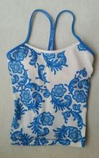 Lululemon Power Y Tank Top Size 8 White Blue