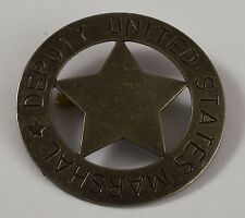 Large Silver Deputy US Marshall Badge - Ranger/Police/Cowboy Wild West Western
