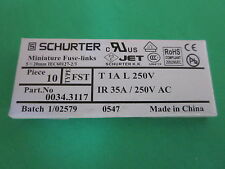 Lot of 310 -  Schurter 0034.3117 Miniature Time Delay Fuse Link, ,5X20mm