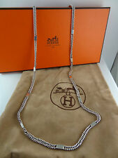 Authentic Hermes Silver 925  long Necklace