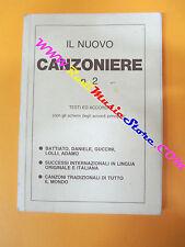 spartito IL NUOVO CANZONIERE N.2 1986 CARISCH Battiato Daniele no cd lp mc dvd