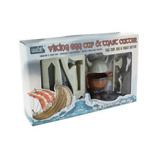 Viking Egg Cup Holder Breakfast Shaped Toast Cutter Boys Novelty Birthday Gift