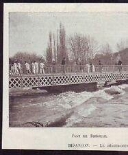 1896  --  BESANCON   PONT DE BREGILLE   INONDATION   £818