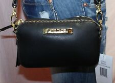 NWT STEVE MADDEN Black Small Man Made Shoulder Hobo Tote Slouch Purse Bag