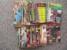 SEVENTY SIX 1970's The Ring Magazine. Ali, Frazier, Foreman, Holmes, etc.