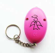PINK ANGEL PERSONAL ALARM WITH TORCH ATTACK / RAPE ALARM - BRAND NEW 130dB LOUD