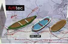 ARTITEC H0 - 387.08 - N. 3 BARCHE A REMI - IN RESINA