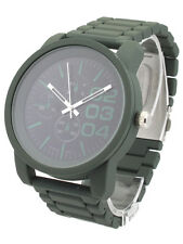 Dark Green Fashion Designer Big Daddy Oversize Style Steel Watch Large Dial Mens