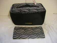 Victoria's Secret X-Large Black Travel Case & Matching Pouch-For Bras & Panties