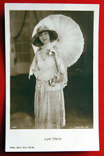 LYA MARA UMBRELLA 1920' RARE VINTAGE POSTCARD PHOTO ROSS 1466/2