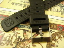 "20mm CASIO GENUINE RUBBER NEVER USED BLACK  ""SP"" STEEL BUCKLE DIVE WATCH BAND"