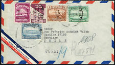 2498 ECUADOR TO CHILE REGISTERED AIR MAIL COVER 1945 GUAYAQUIL - SANTIAGO