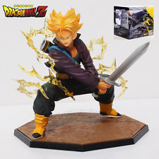 "DRAGON BALL / FIGURA SUPER SAIYAN 15 CM BANDAI- ANIME FIGURE TRUNKS 6"" IN BOX"