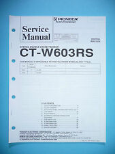 Service-Manual für Pioneer CT-W603RS  ,ORIGINAL