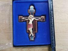 Kruzifixe, Kreuze OVP 15-17 cm Holz Jesus Kreuz Inri Kruzifix (Blau GroßesKreuz)