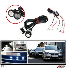 2X 10W WHITE LED EAGLE EYE DRL DAYTIME LIGHTS LAMPS & RELAY DIMMER HARNESS